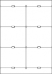 Stabetiketten CLASSIC6-190 (105x83 mm)